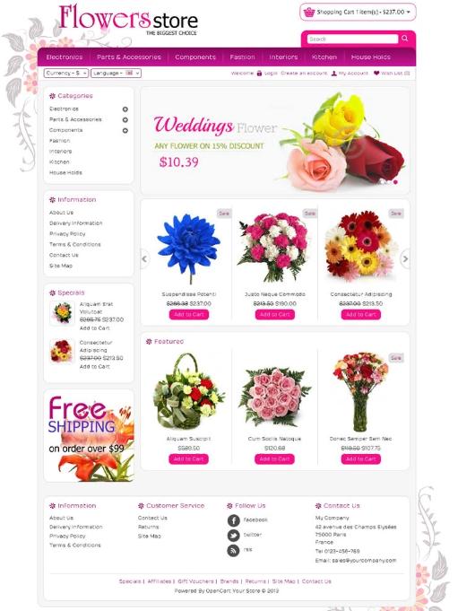 Các tính năng, module cần biết khi thiết kế web bán hoa