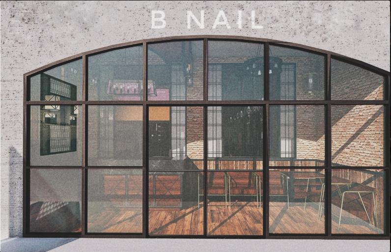 Mặt tiền của Bnails Salon được thiết kế thanh lịch, sang trọng