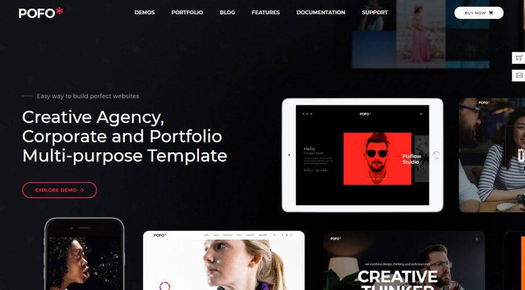 Pofo - mẫu website giới thiệu doanh nghiệp
