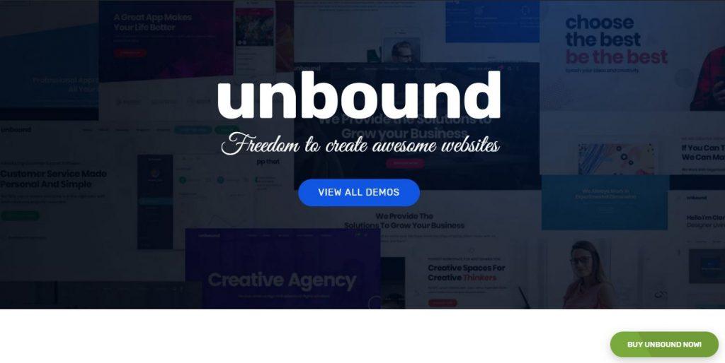 Unbound - mẫu website giới thiệu