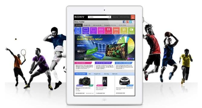 Website bằng wordpress của công ty Sony