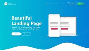 mẫu landing page đẹp