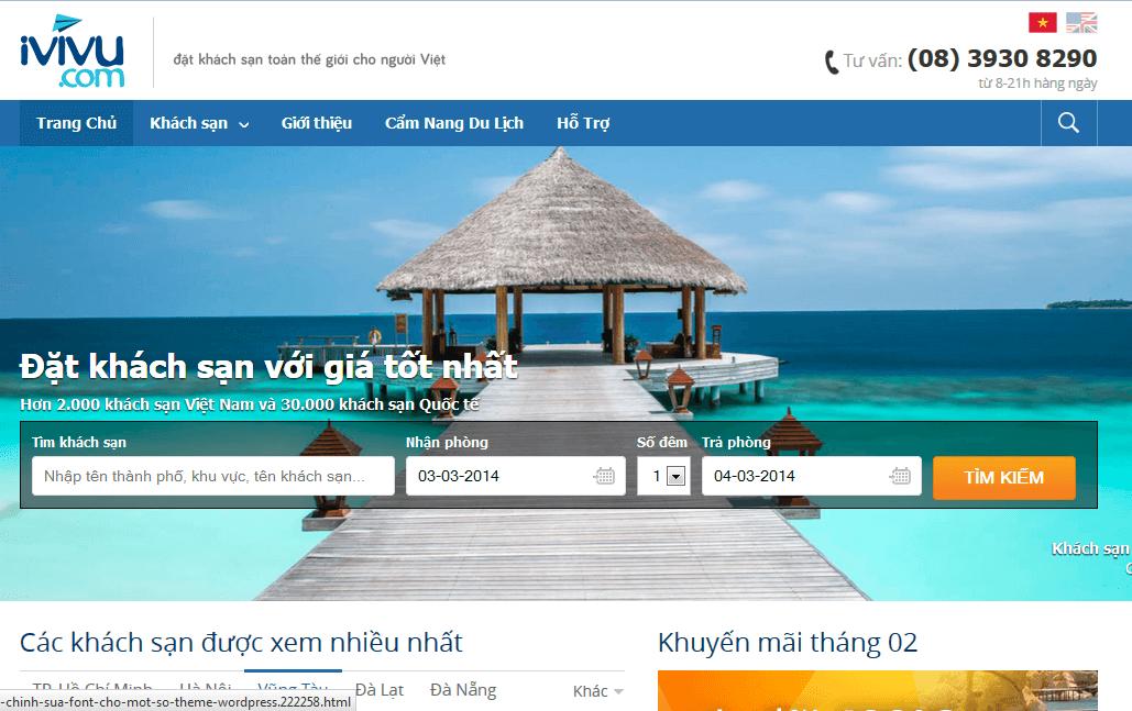 Xây dựng website du lịch chuyên nghiệp