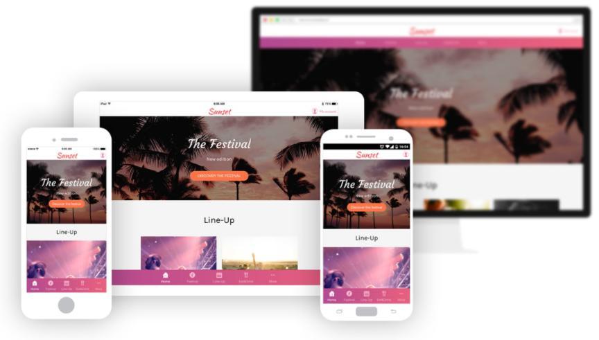 Xu hướng màu sắc đa dạng web app