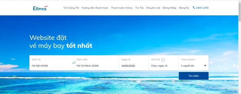 thiết kế website đặt vé máy bay