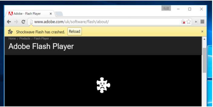 Nhiều trường hợp Adobe Flash đã bị chặn.