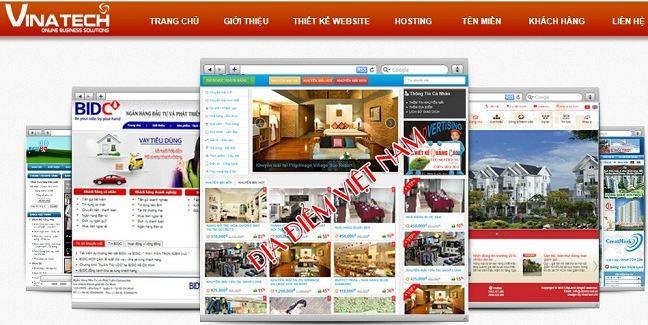 Công ty thiết kế website bất động sản Vinatech