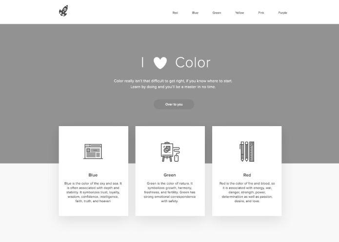 Màu sắc của website.