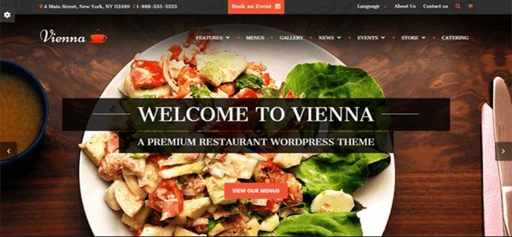 Mẫu website nhà hàng đẹp.