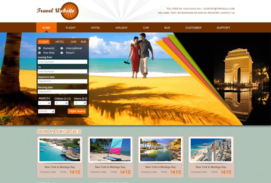 Giao diện website du lịch đẹp, khiến khách hàng hài lòng và gia tăng khả năng book cao hơn