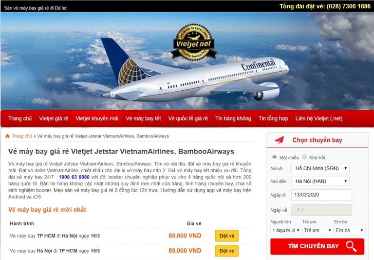 lập trình website đặt vé máy bay
